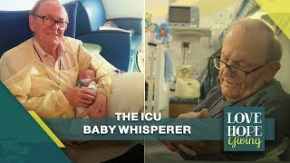 The ICU Grandpa - A Volunteer Cuddler goes to the hospital to Sooth NICU Babies | Love Hope Giving