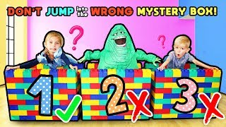 Don't Jump in the WRONG Mystery GIANT Lego Box! Tannerites MEGA Lego Game!