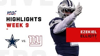 Ezekiel Elliott Bulldozes His Way to 139 Yds | NFL 2019 Highlights