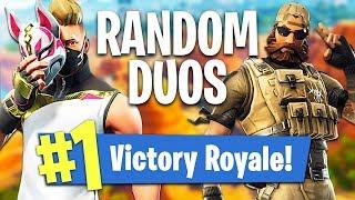 RANDOM DUOS!! *SEASON 5* // 1,183 WINS // 23,150+ FRAGS (Fortnite Battle Royale)