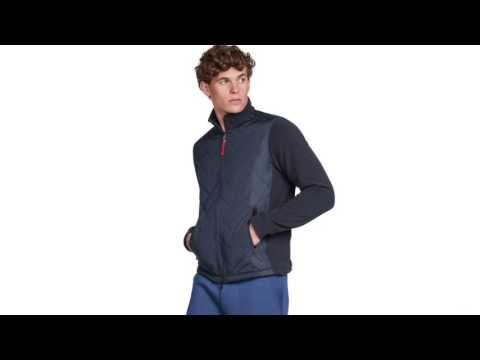 Bogner Derek Mens Knit Midlayer in Navy