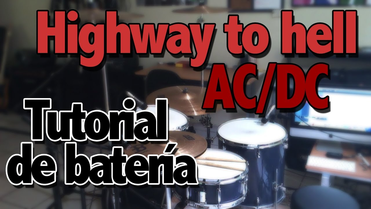 highway to hell ac dc tutorial de bater a youtube. Black Bedroom Furniture Sets. Home Design Ideas