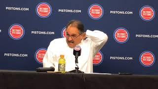 Pistons' Stan Van Gundy talks about win over Bucks