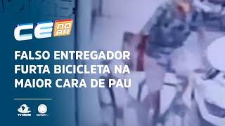 Falso entregador furta bicicleta na maior cara de pau