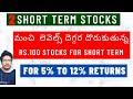 #ShortTermStocks | Best 2 Short Term Stocks To Invest Now | Rs. 100 Stocks | #StockMarkeTelugu