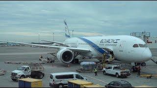 El Al Airlines Boeing 787-9 / Tel Aviv to New York JFK / 4K Video
