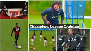 Cavani, Pellistri,Telles train with first team  as Man United prepare for PSG in UCL tie | #UCL2021