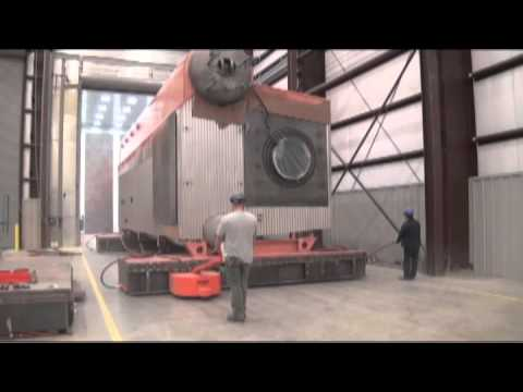 Rigging System 100T CleaverBrooks boiler move