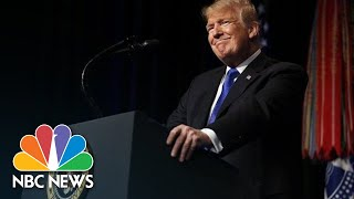 President Donald Trump Praises Space Force: 'No Substitute For American Military Might' | NBC News