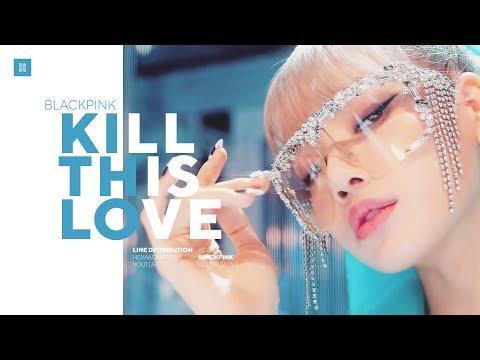BLACKPINK - Kill This Love Line Distribution (Color Coded) | 블랙핑크
