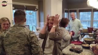 Soldados regresan de sorpresa casa para Navidad
