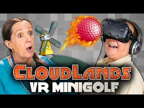 CLUBBING WITH ELDERS!!! - Elders Play VR MINIGOLF - HTC Vive (Elders React: Gaming)