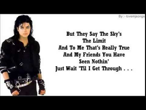 michael jackson - bad (lyrics)