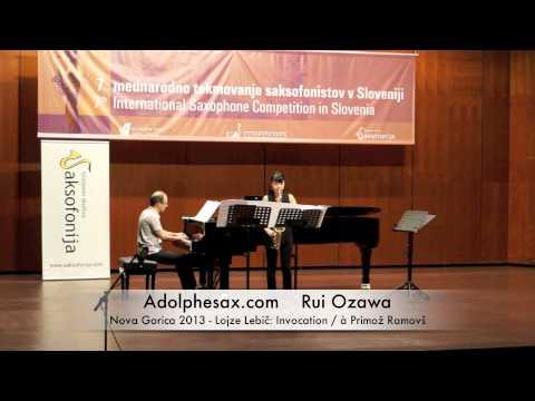Rui Ozawa - Nova Gorica 2013 - Lojze Lebič: Invocation : à Primož Ramovš