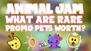 What Are Rare Pets Worth? - Animal Jam All Promo Pets Rarity! + Spike Giveaway Winners! | Frondee