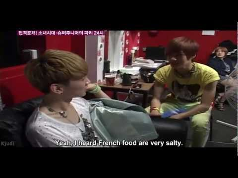 [eng] 110630 SHINee  Backstage of Shinee at the Paris concert.