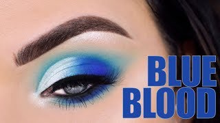 JEFFREE STAR BLUE BLOOD EYESHADOW PALETTE | Eye Makeup Tutorial