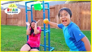 Dunk Tank Challenge  Family Fun Activities with Ryan ToysReview!!!