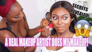 A REAL MAKEUP ARTIST DOES MY MAKEUP!!! I ACTUALLY CANT BELIEVE THE DIFFERENCE -  OMG