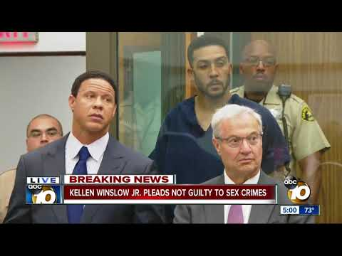 Kellen Winslow Jr. pleads not guilty to sex crimes