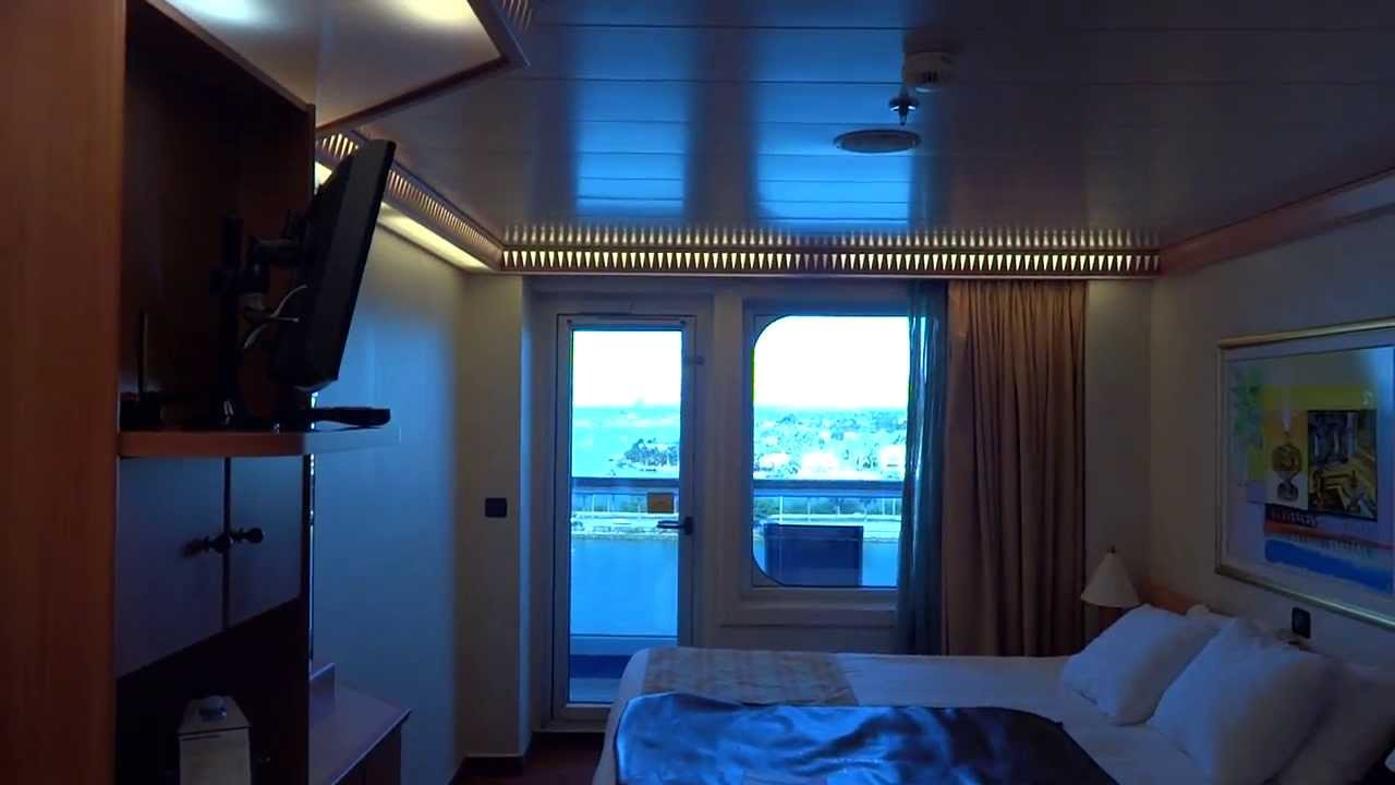 Carnival Liberty balcony review walk through. 8E category ...