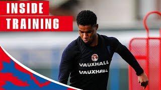 England Train Shooting Ahead of Sweden Quarter Final | Inside Training | World Cup 2018