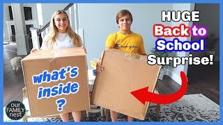 Huge Back to School Surprise in the Mail! Clothes, Shoes & Backpacks!
