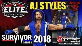 WWE FIGURE INSIDER:  AJ Styles - Mattel WWE Elite Survivor Series 2018 Exclusive!!!