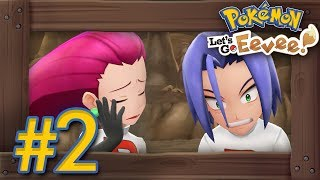 Pokémon Let's Go Pikachu & Eevee: Walkthrough Part 2 - Mt. Moon & First Team Rocket Battle
