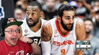 Reacting To Team USA vs Spain - Full Game Highlights | Exhibition Game | USA Basketball 2019