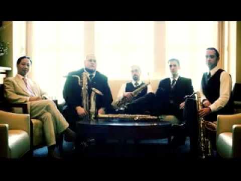 Axius Saxophone Quartet: Shostakovich String Quartet No. 8, Mvt. II Fischoff Competition Finals.flv