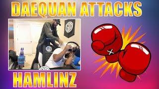 DAEQUAN BEATS UP HAMLINZ! TFUE WINS WHILE HAVING HAIRCUT! (Fortnite Best Moments #25)
