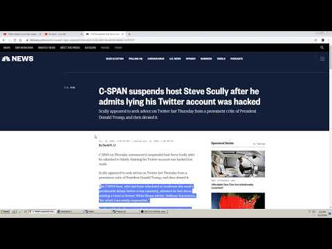 Steve Scully Lied about Hack!