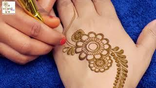Mehndi Design for Hands   Easy Floral Mehndi Design For Hands by Sonia Goyal #011