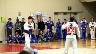 Master v. master taekwondo sparring