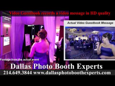 Video Guestbook option from Dallas Photo Booth Experts