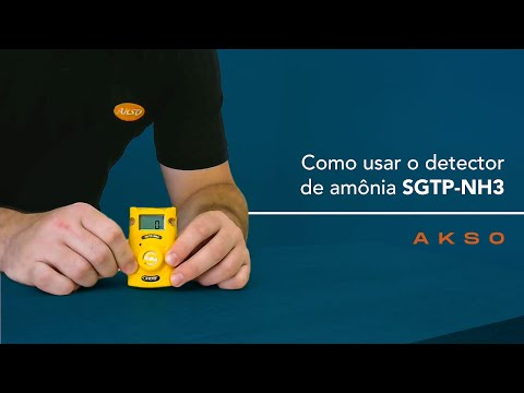 Como usar o detector de amônia SGTP-NH3