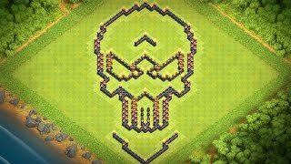 Town Hall 10 Funny Base Design - Clash of Clans (CoC TH10)