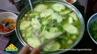 Hot pot chicken cooked green bean porridge | Very tasty and nutritious
