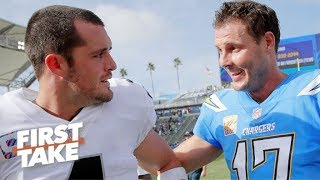 Which QB is under more pressure: Philip Rivers or Derek Carr? | First Take