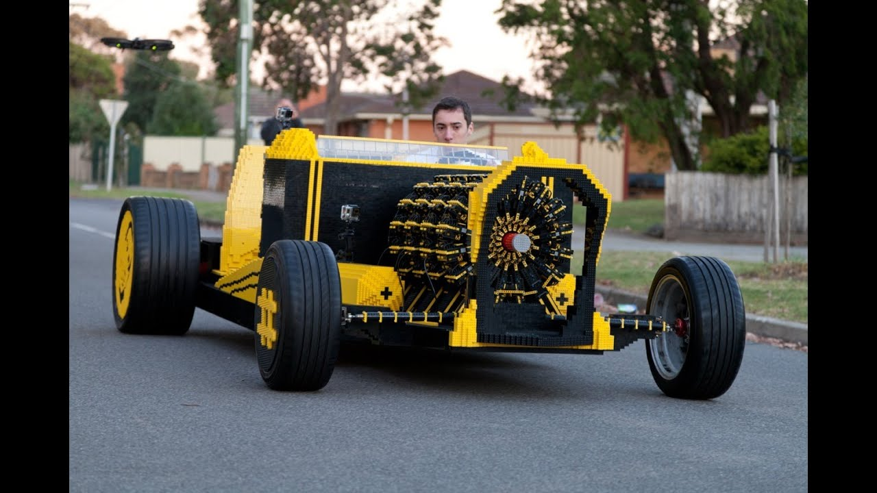 Life Size Lego Car Powered By Air Youtube