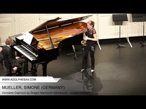 Dinant 2014 - Mueller, Simone - Concerto Capriccio by Gregori Markovich Kalinkovich