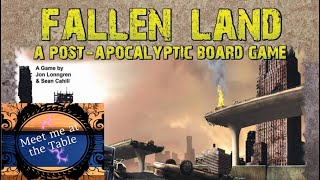 Fallen Land A Post Apocalyptic Board Game Intro and Setup