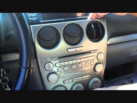 how to mazda 6 bose radio car stereo removal 2003 2005. Black Bedroom Furniture Sets. Home Design Ideas