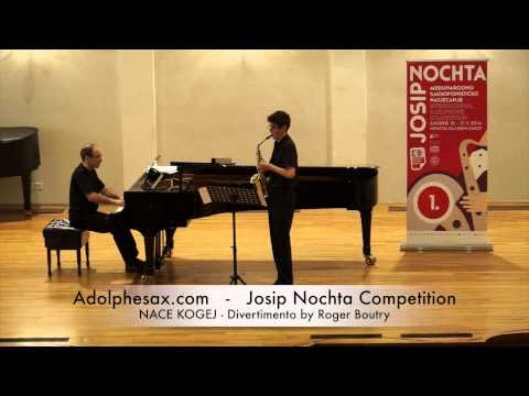 Josip Nochta Competition NACE KOGEJ Divertimento by Roger Boutry