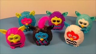 2013 FURBY BOOM SET OF 6 McDONALD'S HAPPY MEAL KID'S TOY'S VIDEO REVIEW