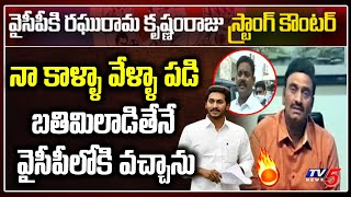 YSRCP MP Raghuramakrishnam Raju hits back at Narasapuram M..