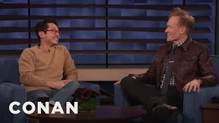 Steven Yeun Thinks Conan Should Hop On The K-Beauty Trend
