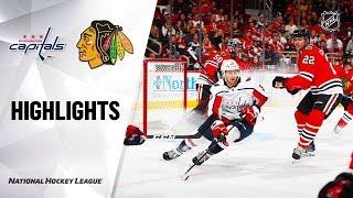 Capitals @ Blackhawks 10/20/19 Highlights