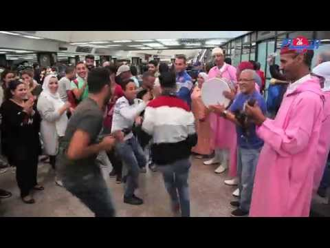 الراية المغربية و الدقة المراكشية و مانولو الرجاء في استقبال جماهيري كبير ل